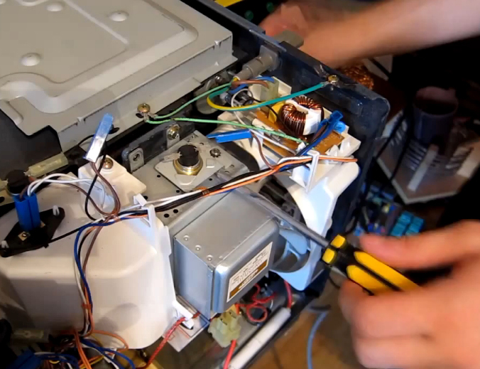 Ремонт двигателя микроволновки своими руками 87